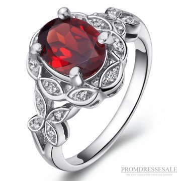 Sterling Silver Garnet Ring JW0276