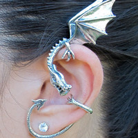 Silver Elfin Dragon Wrap
