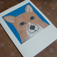 Corgi Dog Puppy Cards Set of 6 with envelopes