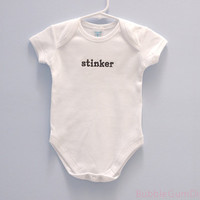 stinker Baby Onesuit, Embroidered Word Onesuit