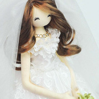 Doll Bride - Handmade doll Bride - Luxury wedding gift - Gift for her - Gift for bride