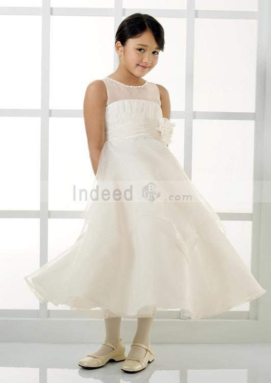 Wholesale White Clearance Flared Organza Flower Girl Dress @Fl0092 ,for $139.90 only in IndeedBuyer.com.  - IndeedBuy