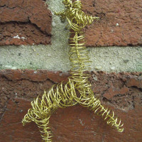 Bendable Wire Giraffe pendant by WiredAnimals on Etsy