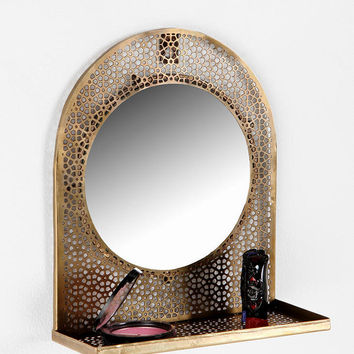 Porthole Mirror Shelf