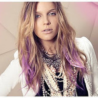 L A V E N D E R  love/ pastel colored lavender human hair extension/ clip-in hair/ dip dye ombre (4) hair extensions