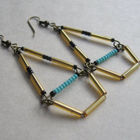 70's inspired geometric earrings
