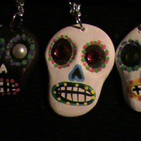 Dia de los muertos birthstone necklace by Weirdworld on Sense of Fashion