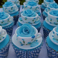 Blue Tea Cup- cakes