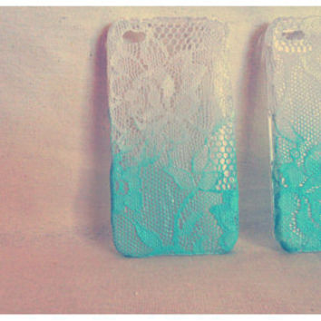 Ombre Iphone Lace Case Mint-a-licous