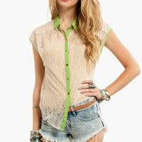 Unlace Me Button Down Shirt