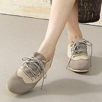 YESSTYLE: Lane172- Lace-Up Loafers (Gray - 40) - Free International Shipping on orders over $150