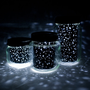 STAR JARS set of 3 upcycled constellation nightlights
