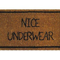 NICE UNDERWEAR MAT | Hilarious Doormat, Welcome Mat Humor, Undies Doormat, Nice Underwear Doormat, Hand Woven, Natural Coconut Fiber | UncommonGoods