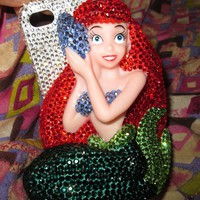 Mermaid crystal  iphone 4/4s case  iphone 4/4s  protective cover