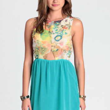 Cut It Out Floral Dress