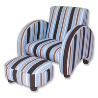 Trend Lab Max Stripe Sleek Chair - 107009