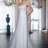 Buy A-Line Gown Lace Overlay Spaghetti Fitting Dresses YSP8385 , from  for $149.99 only in Maxnina.com.