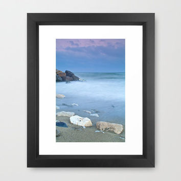 White stones Framed Art Print by Guido Montañés | Society6