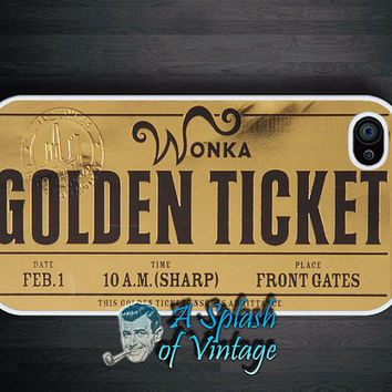 iPhone case Willy Wonka Golden Ticket iPhone 4s, iPhone 4 Cover