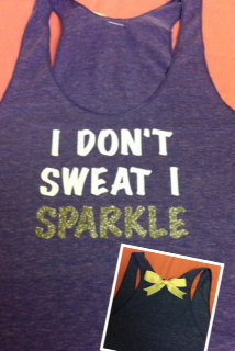 I Don't Sweat I Sparkle Racerback Tank