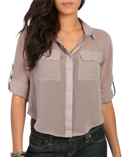 Woven Equipment Shirt | Shop Tops at Wet Seal