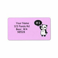 Hi Anime Panda Address Labels from Zazzle.com
