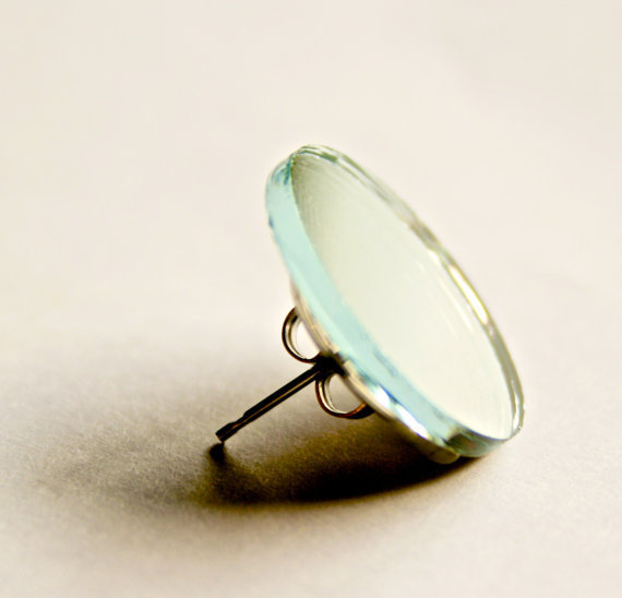 Circular Mirror Post Earrings
