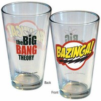 The Big Bang Theory Bazinga Original Logo Pint Glass