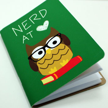 Nerd At Heart Pocket Notebook on Luulla