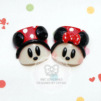 "Summer Toenails - "" Mickey & Minnie """