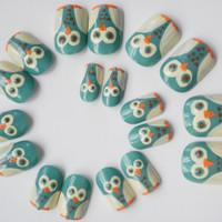 Owl False Nails