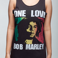 Bob Marley T Shirt One Love Ska Reggae Band Women Black T-Shirt Vest Tank Top Singlet Sleeveless Size S M