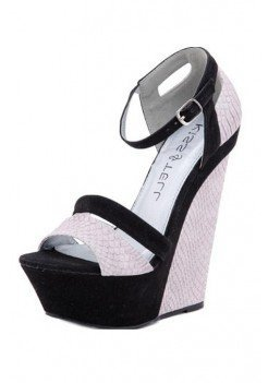 BLACK STYLISH PATTERNED WEDGE @ KiwiLook fashion