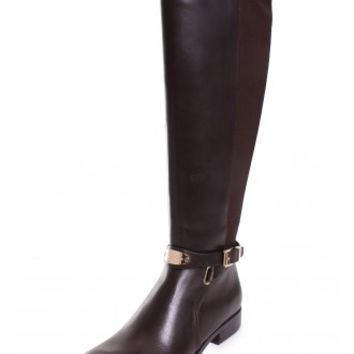 Michael Kors Arley Knee High Riding Boot in Dark Chocolate