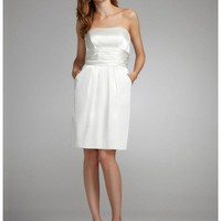Buy Short Charmeuse Dress with Ruched Waist & Pockets Style INT83707  , from  for $119.29 only in Fashionwithme.com.