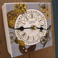 Wall Clock Steampunk Style on Luulla