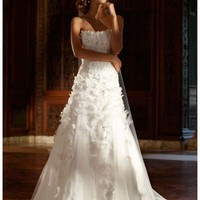 Buy Tulle Gown with Lace Applique and 3D Flowers Style SWG471  , from  for $179.34 only in Fashionwithme.com.