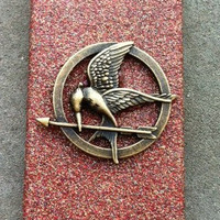 Red Hunger Games Mockingjay Glitter iPhone 4 4s Hard Cover Case