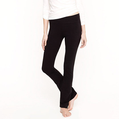 Foldover knit pant