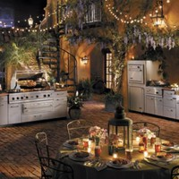 Romanic Outdoor Kitchen