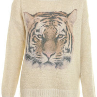 Printed Tiger Jumper - Sweaters & Cardigans  - Apparel