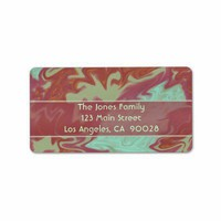 Colorful brown green Marble Design Labels from Zazzle.com
