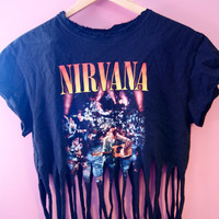 Nirvana Fringe Crop Top