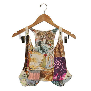 Decades Patchwork Crop Top size M   only 1 ever