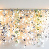Winter Sparkle Mirror Garland &amp; White Lights
