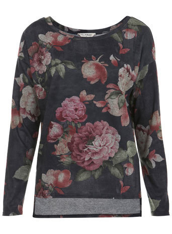 Floral Loopback Sweat - Sweaters & Cardigans  - Apparel