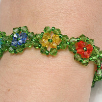 Flowers crystal bracelet