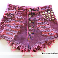 Runwaydreamz : 612 Vintage Rose Studded Short