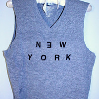 Distressed & Shredded New York Tank Top