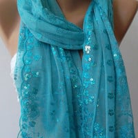 Blue /Turkish Shawl -Scarf